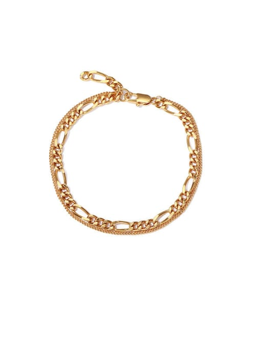 ACCA Brass Hollow  Geometric Chain Vintage  Anklet