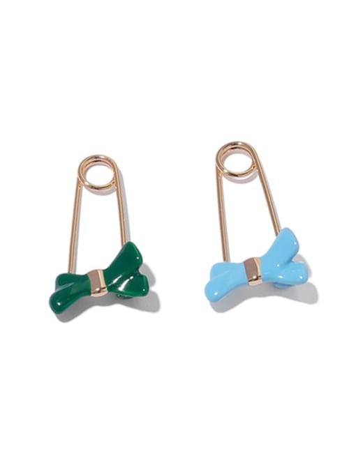 ACCA Brass Enamel Bowknot Minimalist Huggie Earring 0