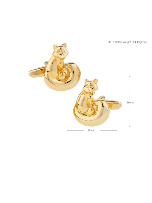 cat Brass Animal Vintage Cuff Link