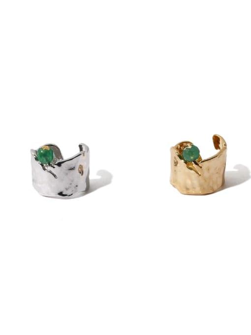 TINGS Brass Freshwater Pearl Geometric Hip Hop Single Earring 0