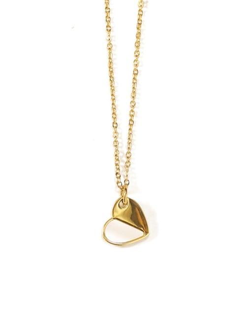 ACCA Titanium Shell Heart Minimalist Necklace 0
