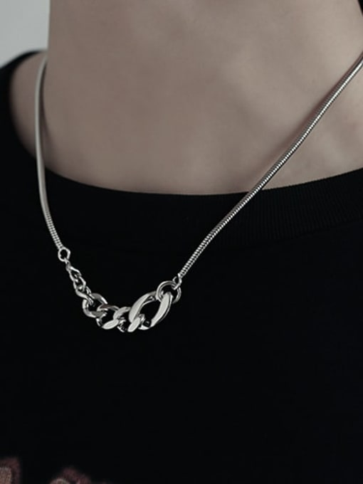 TINGS Brass Geometric Vintage Necklace 1