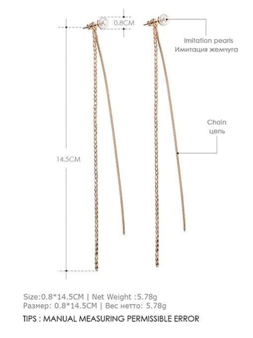 Desoto Stainless steel Tassel Minimalist Threader Earring 2