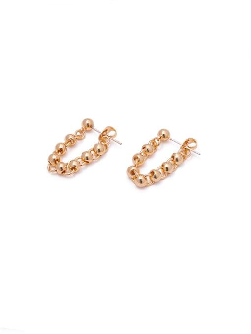 golden Brass Bead Tassel Vintage Drop Earring