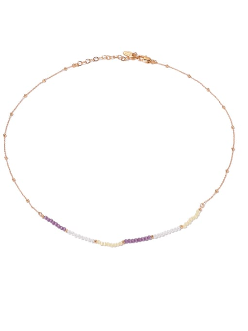 Necklace Brass Cats Eye Geometric Hip Hop Necklace
