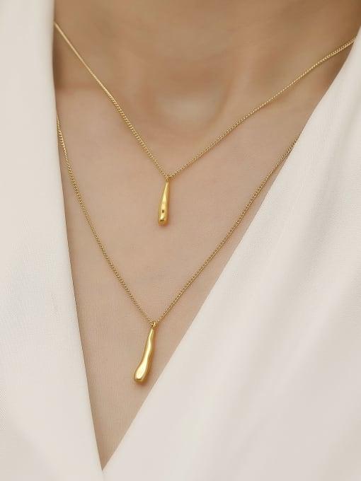 HYACINTH Brass Geometric Minimalist Multi Strand Necklace 1