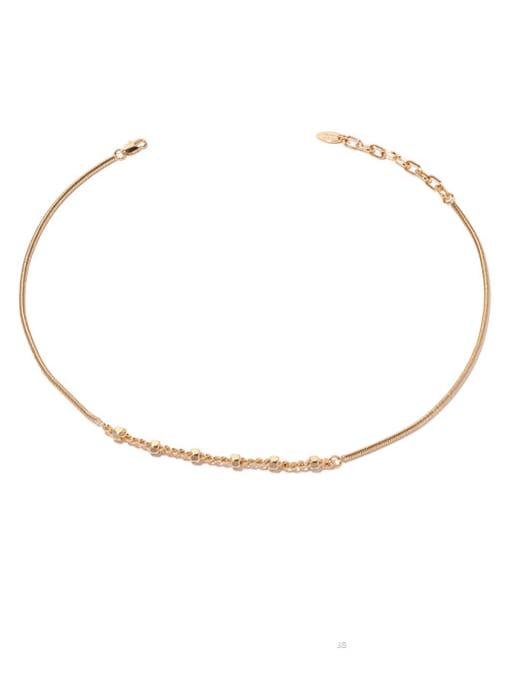 golden Brass  Hollow Geometric Hip Hop Necklace