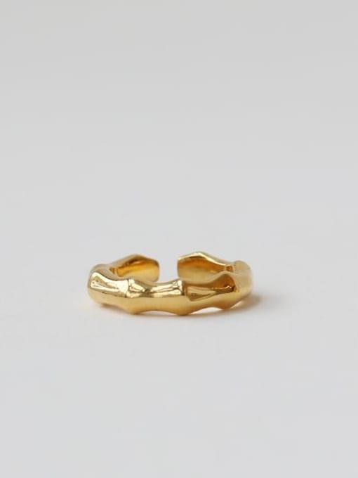 TINGS Brass Geometric Vintage Band Ring 3