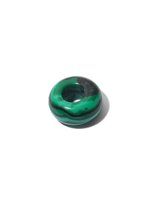 Malachite (sold in single piece) Brass Geometric Minimalist Huggie Earring
