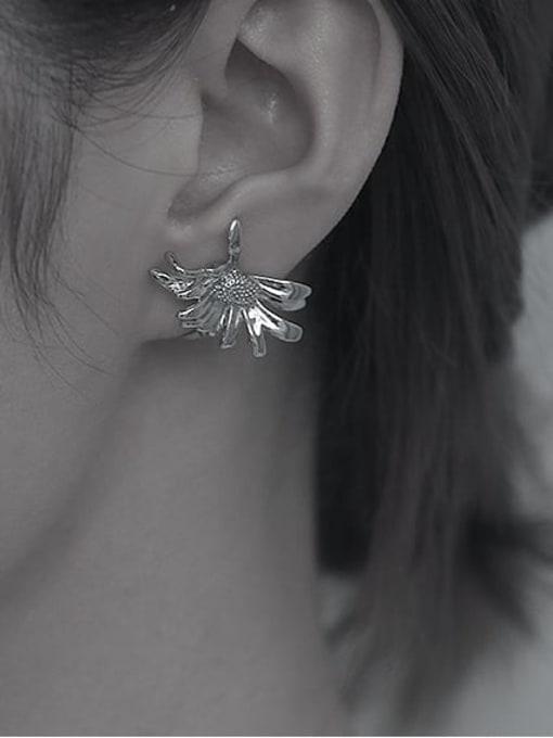 TINGS Brass Flower Vintage Single  Clip Ear Clip 2
