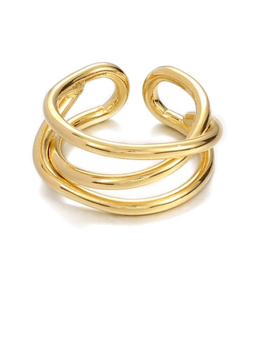 Line ring (not adjustable) Brass Geometric Minimalist Stackable Ring