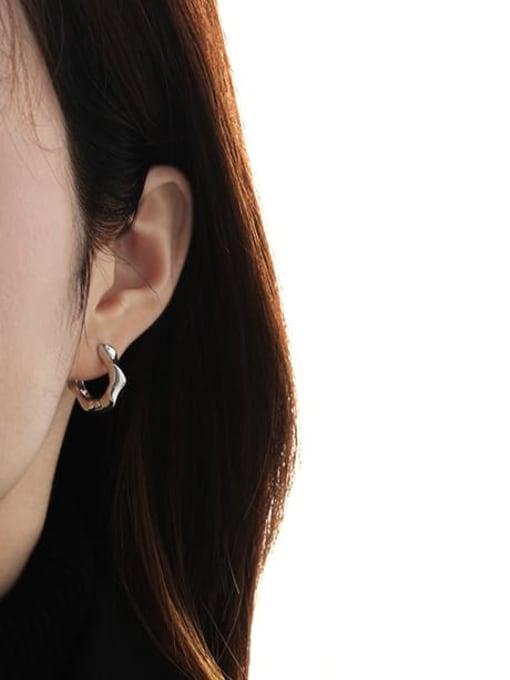 TINGS Brass Geometric Vintage Huggie Earring 1