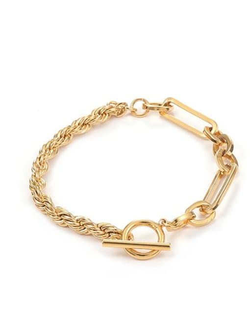 Twist bracelet Brass Geometric Hip Hop Link Bracelet