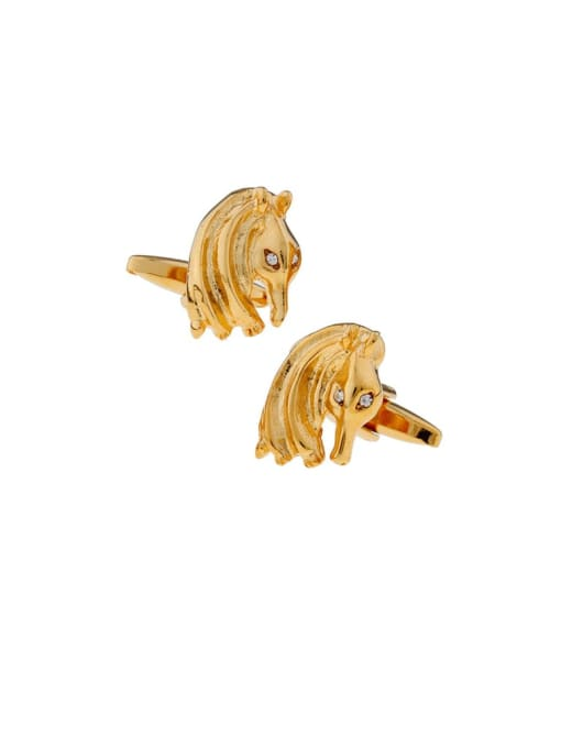 golden Brass Animal Vintage Cuff Link