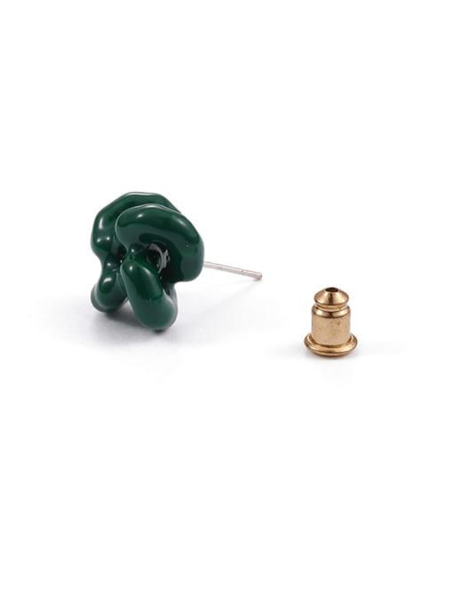 Five Color Brass Enamel Flower Minimalist Stud Earring 0