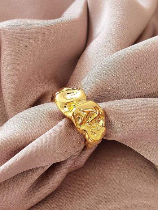 HYACINTH Brass Irregular Vintage Band Ring
