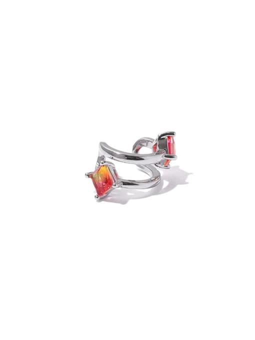TINGS Brass Cubic Zirconia Geometric Minimalist Single Earring 0