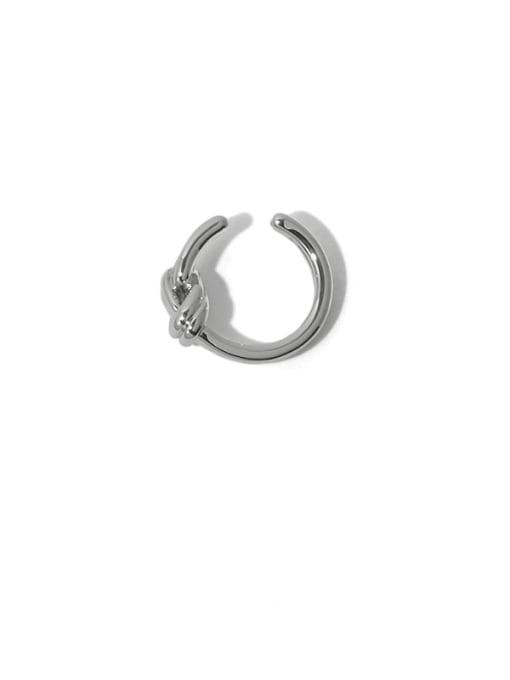 TINGS Brass Line knot Vintage Single Earring 3