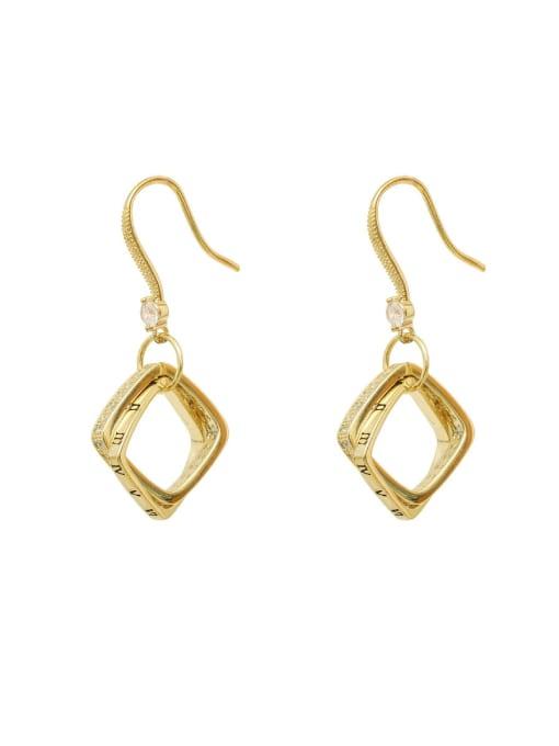 HYACINTH Copper Cubic Zirconia Geometric Minimalist Hook Earring