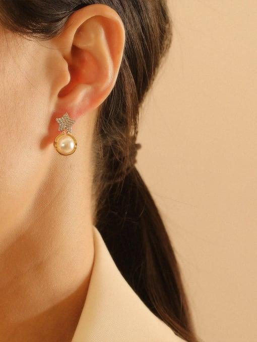 HYACINTH Brass Cubic Zirconia Star Bohemia Stud Earring 2