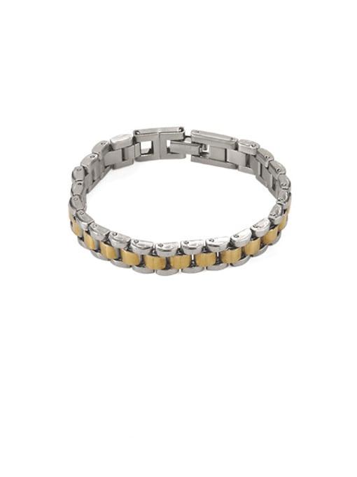 Gold and steel Titanium Geometric Vintage Bracelet