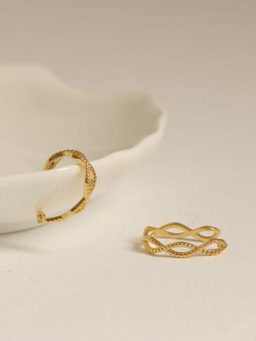 ACCA Brass Hollow Geometric Minimalist Clip Earring (Single) 3