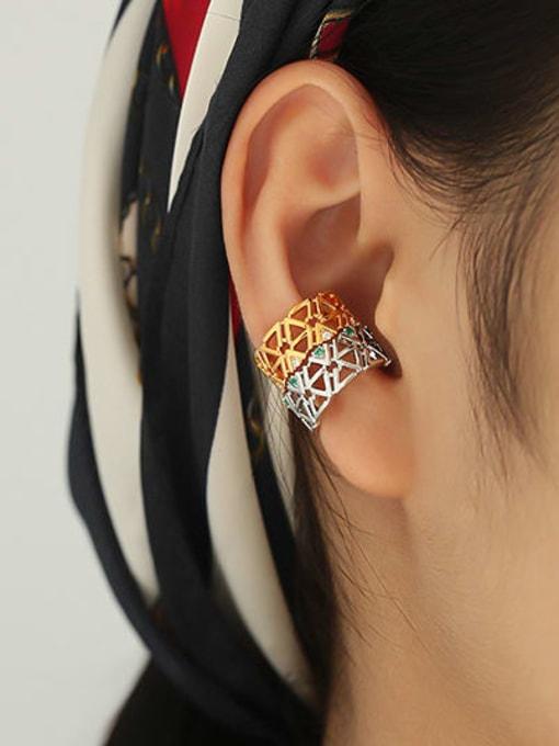 ACCA Brass Geometric Hip Hop Single Earring 2