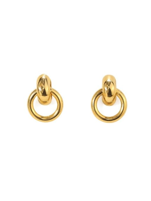 ACCA Brass Hollow Geometric Vintage Drop Earring 0