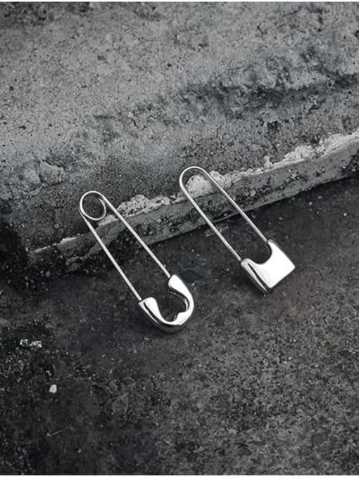TINGS Brass PIN Geometric Minimalist Huggie Earring 1