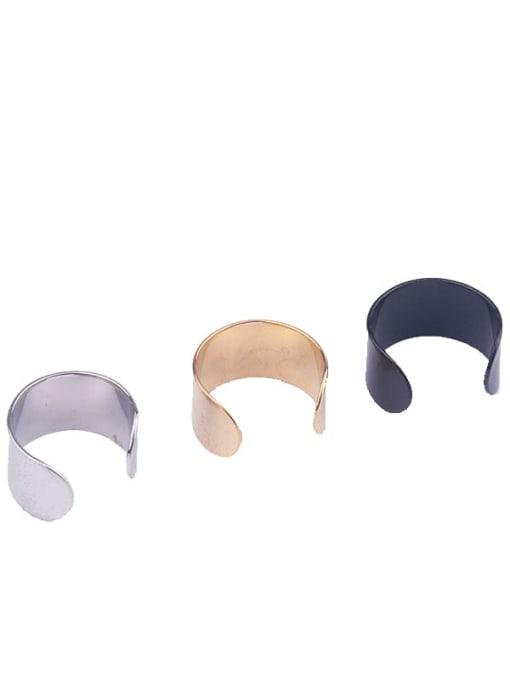 HISON Stainless steel Geometric Minimalist Clip Earring