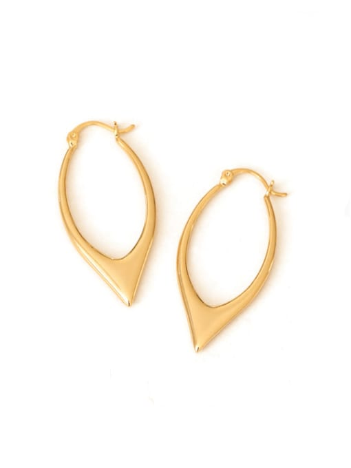 Ear button (water plated) Brass smooth Geometric Vintage Drop Earring