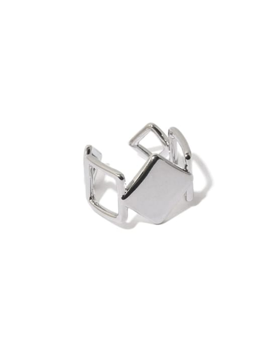 Hollow out ring Brass Hollow Geometric Hip Hop Band Ring