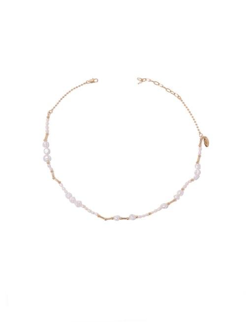 Necklace Brass Imitation Pearl Geometric Hip Hop Necklace
