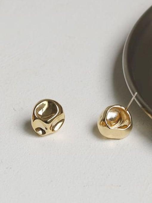 ACCA Brass Round Vintage Stud Earring 3