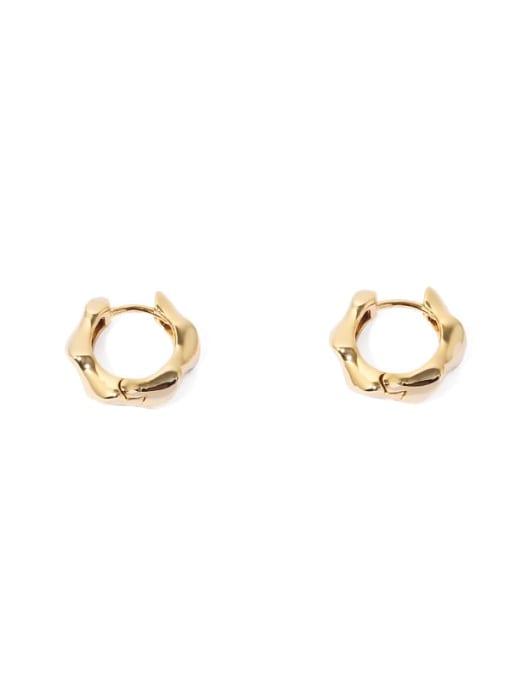 Gold Earrings Brass Geometric Vintage Huggie Earring