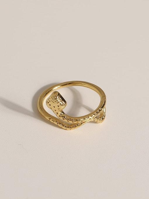 JZ099 Brass Geometric Vintage Band Ring