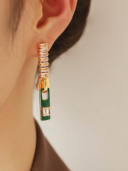 ACCA Zinc Alloy Enamel Geometric Minimalist Drop Earring 2