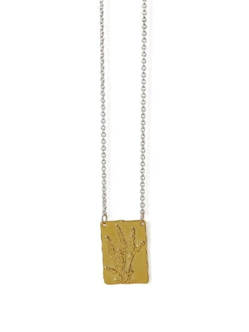 reed Brass Geometric Vintage Necklace