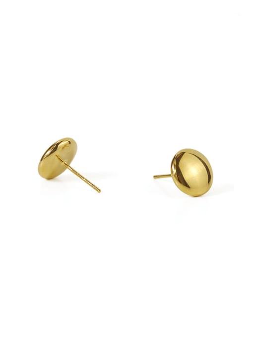 ACCA Brass Smooth Round Minimalist Stud Earring 2