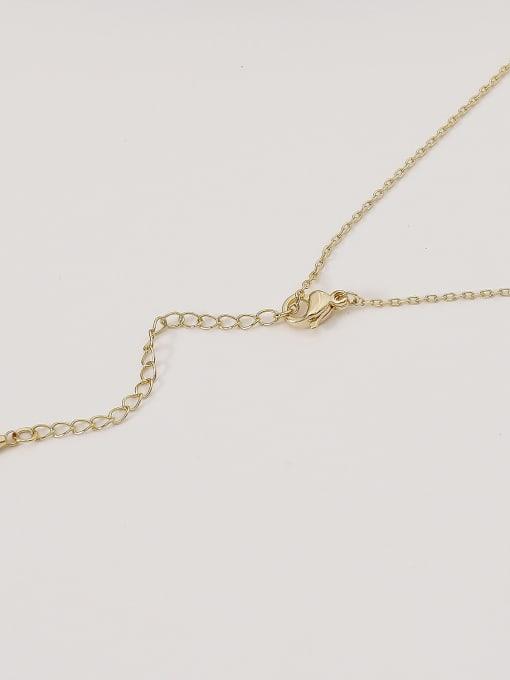 HYACINTH Brass Shell Geometric Minimalist Necklace 3