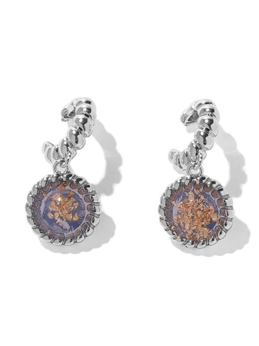 TINGS Brass Geometric Vintage Drop Earring