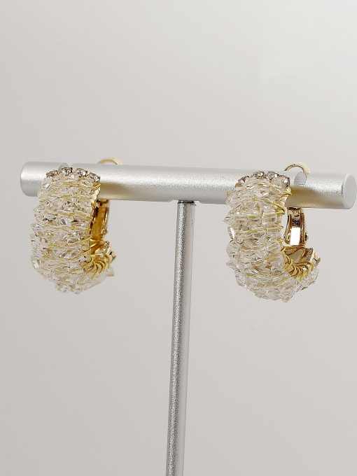 HYACINTH Brass Imitation Crystal Geometric Ethnic Stud Earring