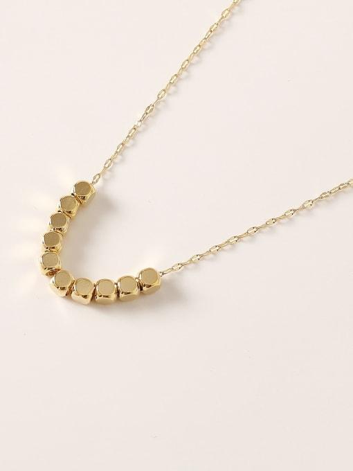 HYACINTH Brass  Smooth Locket Minimalist Necklace 0