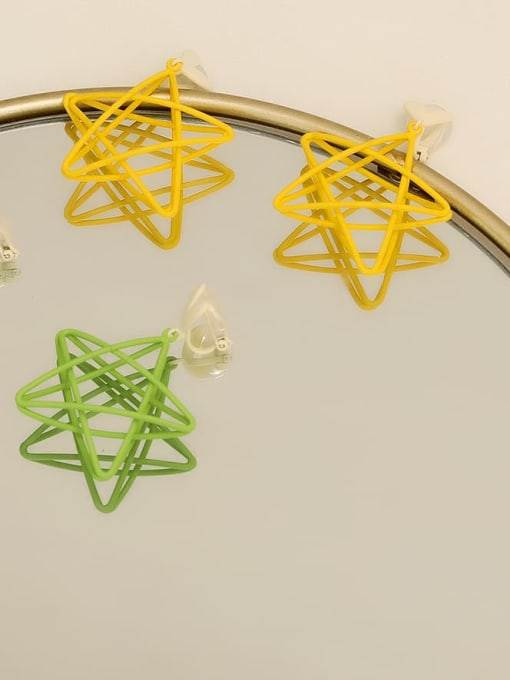 HYACINTH Copper Enamel Star Minimalist Stud Earring 2