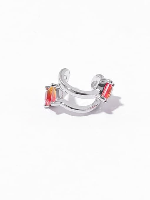 Ear bone clip (Single) Brass Cubic Zirconia Geometric Minimalist Single Earring