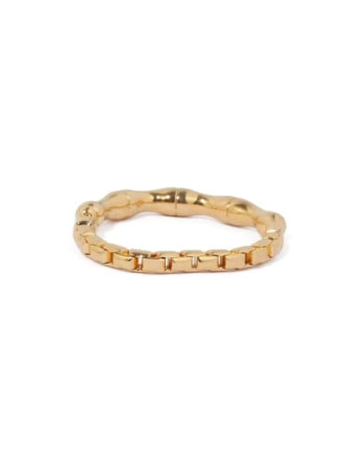 ACCA Brass Irregular Vintage Band Ring 3
