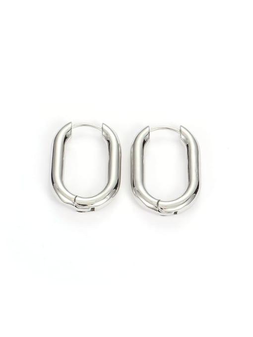 Silver U shape (Single) Brass Geometric Minimalist Huggie Earring