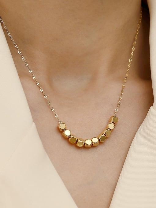 HYACINTH Brass  Smooth Locket Minimalist Necklace 1