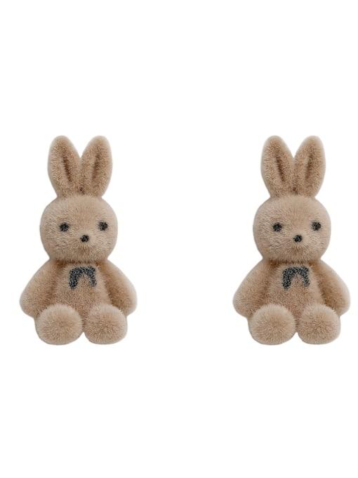 HYACINTH Brass Rabbit Cute Stud Earring 3