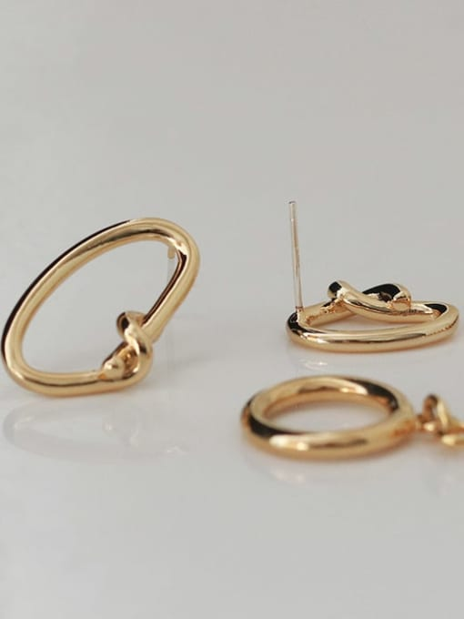 ACCA Brass Hollow Geometric Vintage Stud Earring 3